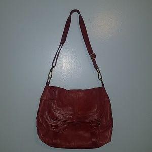 The Sak | Red Leather Shoulder Crossbody Bag